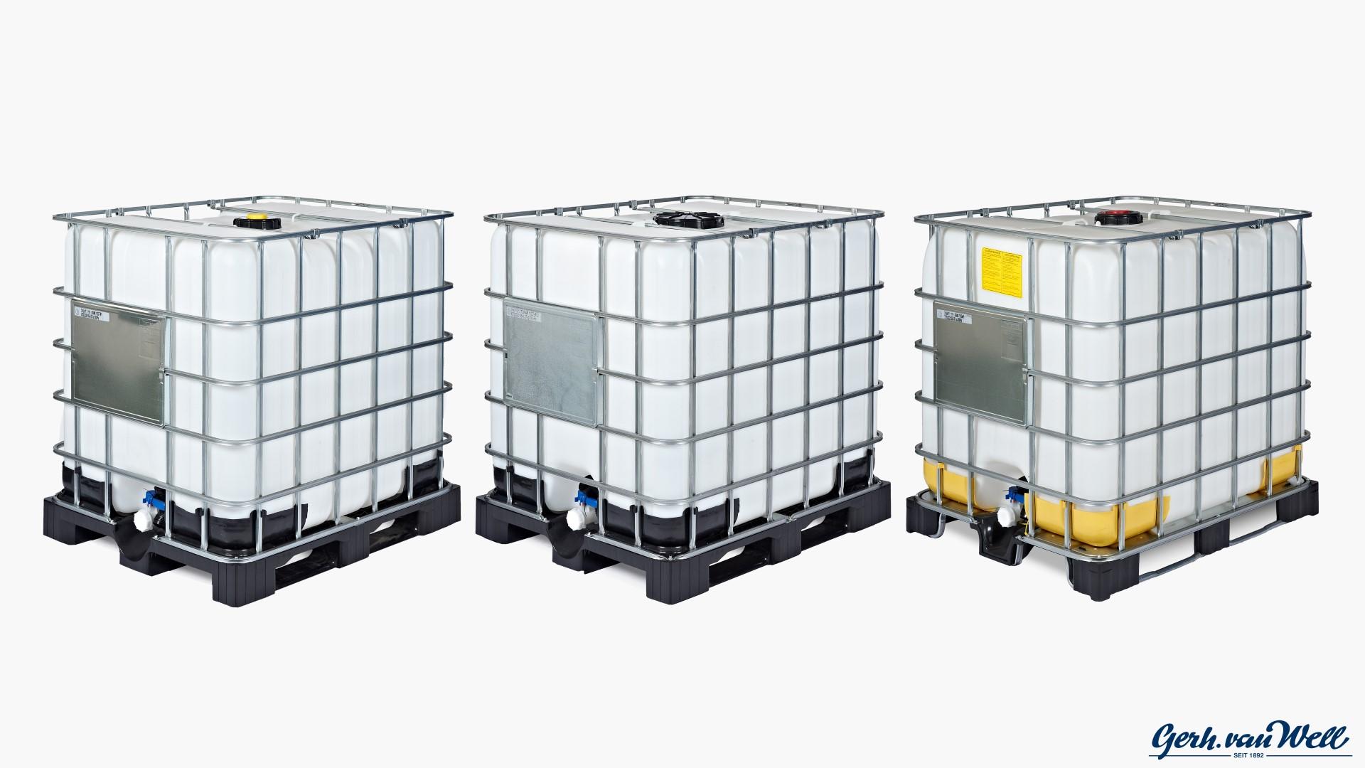 ibc container 1000l kaufen versandkostenfrei ibc 600l ibc tank eisenfass kunststofffass deckel. Black Bedroom Furniture Sets. Home Design Ideas
